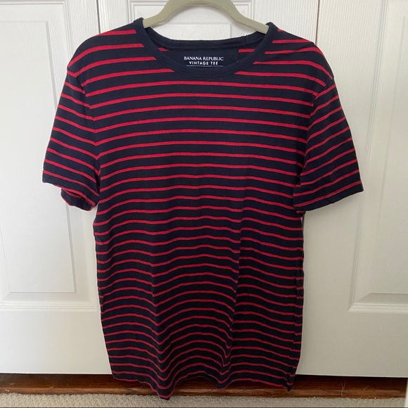 Banana Republic Other - Red and navy striped t-shirt